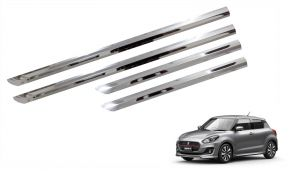 Side beading for cars - Trigcars Maruti Suzuki Swift 2017 Car Steel Chrome Side Beading