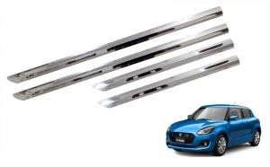 Side beading for cars - Trigcars Maruti Suzuki Swift 2018 Car Steel Chrome Side Beading