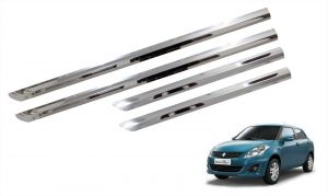 Side beading for cars - Trigcars Maruti Suzuki Swift Dzire 2011-2013 Car Steel Chrome Side Beading