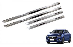 Side beading for cars - Trigcars Maruti Suzuki Swift Dzire 2017 Car Steel Chrome Side Beading