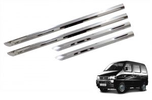 Side beading for cars - Trigcars Maruti Suzuki Versa Car Steel Chrome Side Beading
