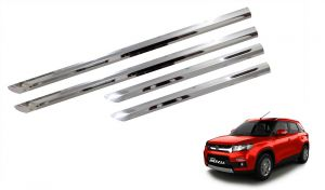 Trigcars Maruti Suzuki Vitara Brezza Car Steel Chrome Side Beading