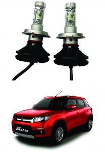 Headlights and bulbs - Trigcars Maruti Suzuki Vitara Brezza Car Glass Led Head Light
