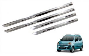 Side beading for cars - Trigcars Maruti Suzuki WagonR 2006-2009 Car Steel Chrome Side Beading