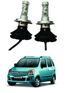 Headlights and bulbs - Trigcars Maruti Suzuki WagonR 2006-2009 Car Glass Led Head Light