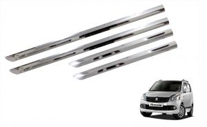 Side beading for cars - Trigcars Maruti Suzuki WagonR 2010-2013 Car Steel Chrome Side Beading