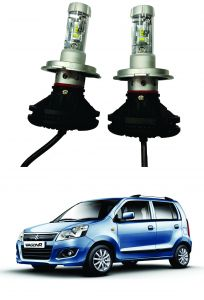 Headlights and bulbs - Trigcars Maruti Suzuki WagonR 2014-2018 Car Glass Led Head Light