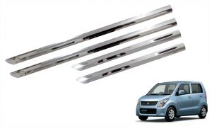 Side beading for cars - Trigcars Maruti Suzuki WagonR Old Car Steel Chrome Side Beading