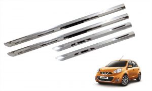 Trigcars Nissan Micra Car Steel Chrome Side Beading