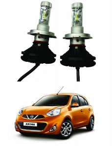 Trigcars Nissan Micra Car Glass LED Head Light