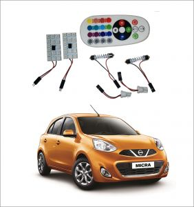 Trigcars Nissan Micra 2 X 16 Colors Rgb Bright 5050 LED Car Roof Dome Light Festoon T10 IR Remote