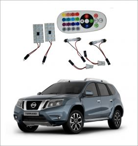 Trigcars Nissan Terrano 2 X 16 Colors Rgb Bright 5050 LED Car Roof Dome Light Festoon T10 IR Remote