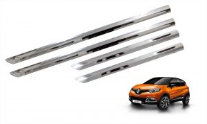 Trigcars Renault Captur Car Steel Chrome Side Beading
