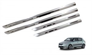 Trigcars Skoda Fabia Car Steel Chrome Side Beading