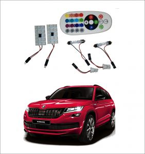 Trigcars Skoda Kodiaq 2 X 16 Colors Rgb Bright 5050 LED Car Roof Dome Light Festoon T10 IR Remote