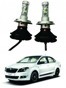 Headlights and bulbs - Trigcars Skoda Rapid Car Glass Led Head Light