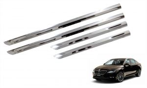Side beading for cars - Trigcars Skoda Superb Car Steel Chrome Side Beading