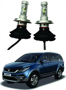 Headlights and bulbs - Trigcars Tata Hexa Car Glass Led Head Light