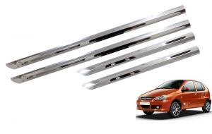 Trigcars Tata Indica Car Steel Chrome Side Beading