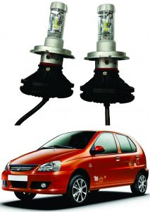 Headlights and bulbs - Trigcars Tata Indica Car Glass Led Head Light