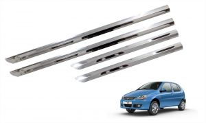 Side beading for cars - Trigcars Tata Indica V2 Car Steel Chrome Side Beading