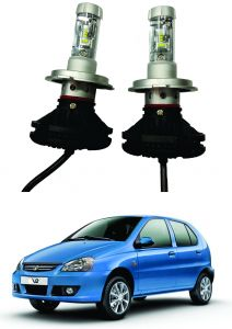 Headlights and bulbs - Trigcars Tata Indica V2 Car Glass Led Head Light