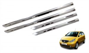 Side beading for cars - Trigcars Tata Indica Vista Car Steel Chrome Side Beading