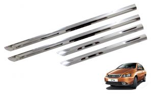 Side beading for cars - Trigcars Tata Indigo eCS Car Steel Chrome Side Beading