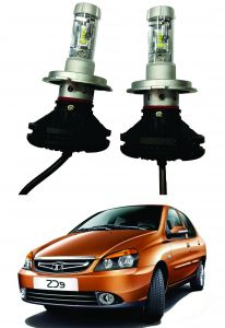 Headlights and bulbs - Trigcars Tata Indigo ECS Car Glass Led Head Light
