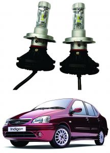 Headlights and bulbs - Trigcars Tata Indigo SX Car Glass Led Head Light