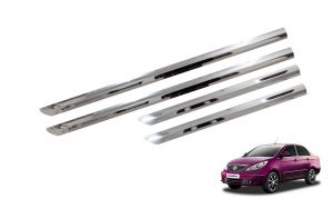 Trigcars Tata Manza Car Steel Chrome Side Beading