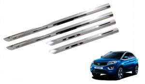 Side beading for cars - Trigcars Tata Nexon Car Steel Chrome Side Beading