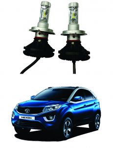 Headlights and bulbs - Trigcars Tata Nexon Car Glass Led Head Light