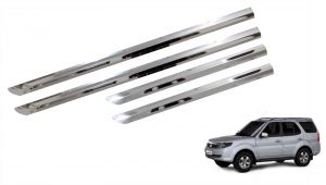 Side beading for cars - Trigcars Tata Safari Storme Car Steel Chrome Side Beading