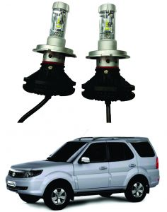 Headlights and bulbs - Trigcars Tata Safari Storme Car Glass Led Head Light