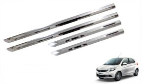 Side beading for cars - Trigcars Tata Tiago Car Steel Chrome Side Beading