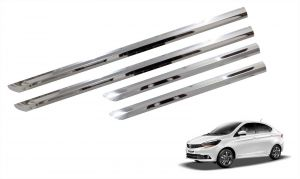 Side beading for cars - Trigcars Tata Tigor Car Steel Chrome Side Beading