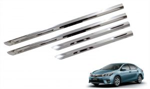 Side beading for cars - Trigcars Toyota Corolla Altis Car Steel Chrome Side Beading
