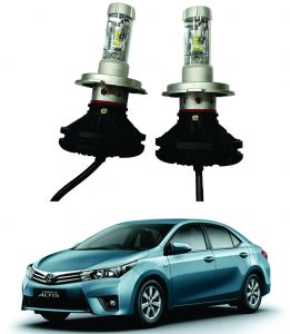 Headlights and bulbs - Trigcars Toyota Corolla Altis Car Glass Led Head Light
