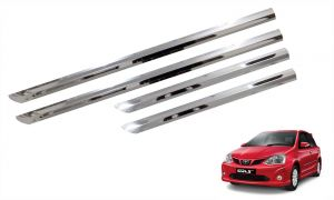 Side beading for cars - Trigcars Toyota Etios Liva Car Steel Chrome Side Beading