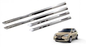 Trigcars Toyota Etios New Car Steel Chrome Side Beading