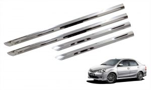 Side beading for cars - Trigcars Toyota Etios Old Car Steel CHrome Side Beading