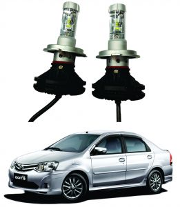 Headlights and bulbs - Trigcars Toyota Etios Old Car Glass Led Head Light