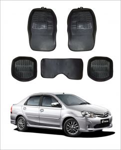 Trigcars Car Carpet Black Car Floor/foot Mats For Toyota Etios Old