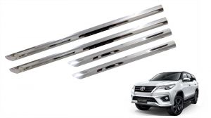 Side beading for cars - Trigcars Toyota Fortuner Car Steel Chrome SIde Beading