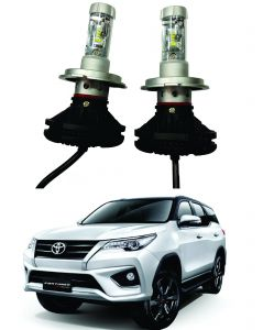 Headlights and bulbs - Trigcars Toyota Fortuner Car Glass Led Head Light