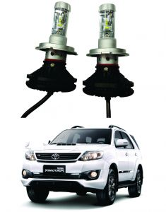 Headlights and bulbs - Trigcars Toyota Fortuner Old Car Glass Led Head Light