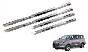 Side beading for cars - Trigcars Toyota Innova Crysta Car Steel Chrome Side Beading
