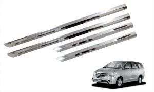 Side beading for cars - Trigcars Toyota Innova New Car Steel Chrome Side Beading