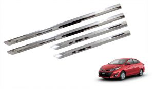 Side beading for cars - Trigcars Toyota Yaris Car Steel Chrome Side Beading